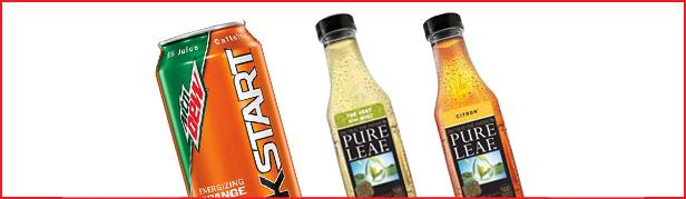 kickstart-mountain-dew-orange-pureleaf-green-tea